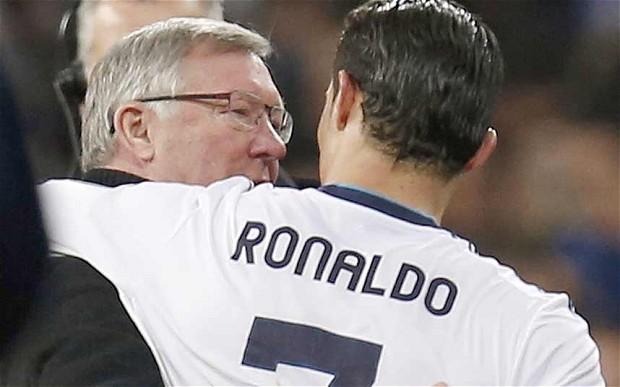 Cristiano Ronaldo e Alex Ferguson