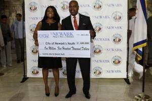 Baraka receives check