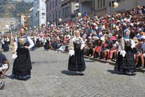 Glória no desfile da Agonia