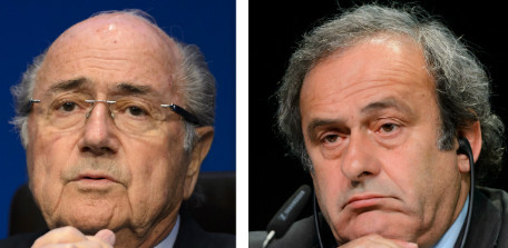 Joseph Blatter e Michel Platini