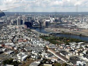 Newark aerial view