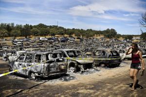 """Dia seguinte ao incêndio no """"Andanças"""""""